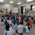香簑小学校で中島大水道授業