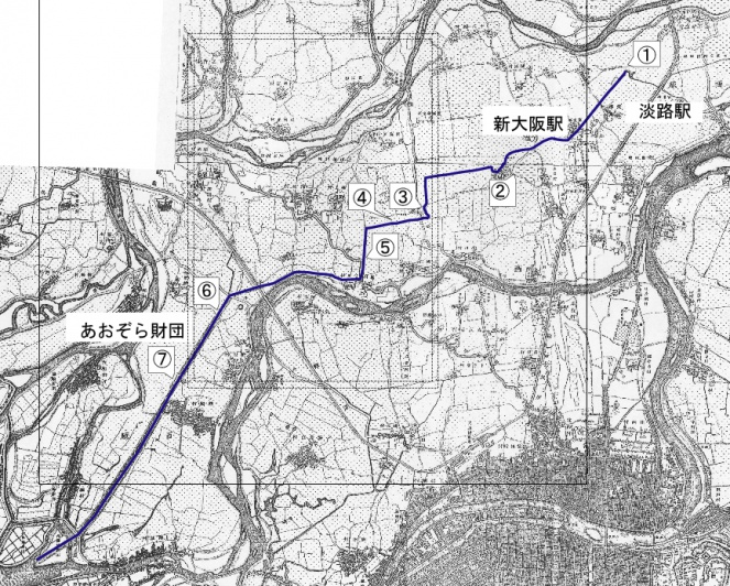 中島大水道 明治時代の地図