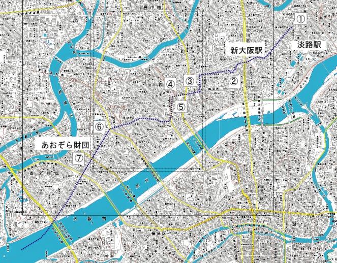 中島大水道 今の地図