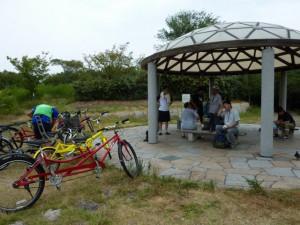 (写真)矢倉緑地公園に到着!