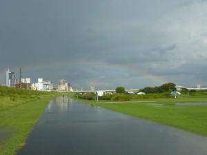 (写真)うっすら虹が見えます