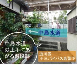 中島水道まち歩き 淀川区バイパス高架下