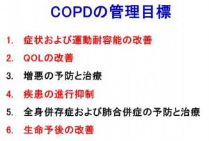 COPDの管理目標