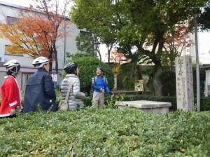 (写真)細川ガラシャ夫人が亡くなった屋敷跡の越中井