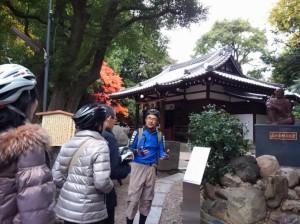 (写真)真田幸村が戦死したといわれる安居神社