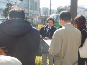 大阪国道事務所大田隆英さんが説明をしてくださいました。