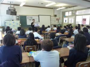 2/24川北小学校にて。天野さんの授業の様子