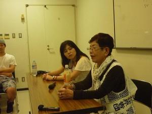今回お話をしていただいた永野千代子さん(画像手前側の方です)
