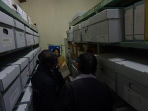 6階の資料庫の見学