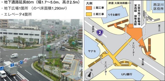 整備後の歌島橋交差点
