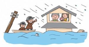 水害は避難が遅れがち
