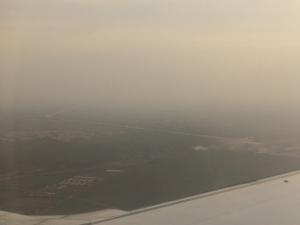 河北省石家荘市の上空から撮影(2016.3.14)