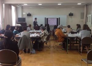 区役所の松井さんから地震のメカニズムに関するお話