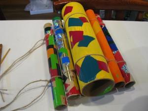 紙管の木琴