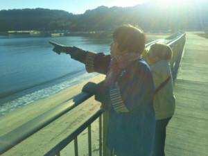 根浜地区を紹介する岩崎昭子さん