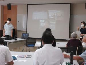 講義の進行にあわせて、静岡市職員の方が会場でワークを進行