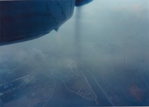 No.7308 検甲第14号証の29 昭和39年2月7日 西淀川区出来島付近上空から大阪製鋼の方向を撮影